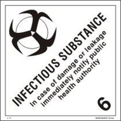 Picture of INFECTIOUS SUBSTANCE 25x25 (IMO 6.2)