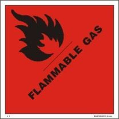 Picture of FLAMMABLE GAS     10x10    (IMO 2.1)