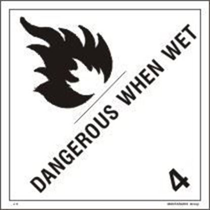 Picture of DANGEROUS WHEN WET     25x25    (IMO 4.3)