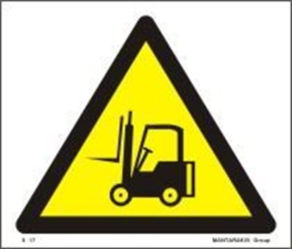 Picture of CAUTION FORK-LIFT TRUCKS S17
