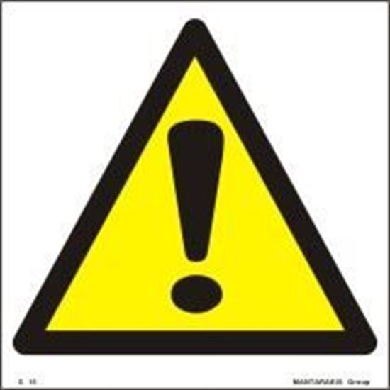 Picture of SAFETY SIGN 15X15 PVC