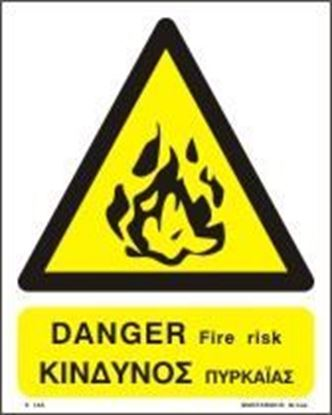 Picture of DANGER FIRE RISK    20x25
