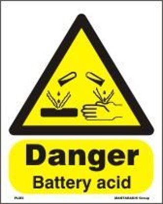 Picture of DANGER BATTERY ACID  20x25