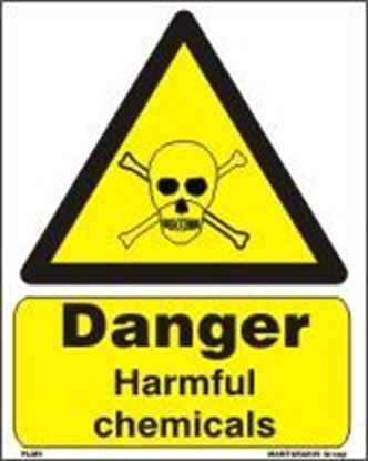 Picture of DANGER HARMFUL CHEMICALS   20x25