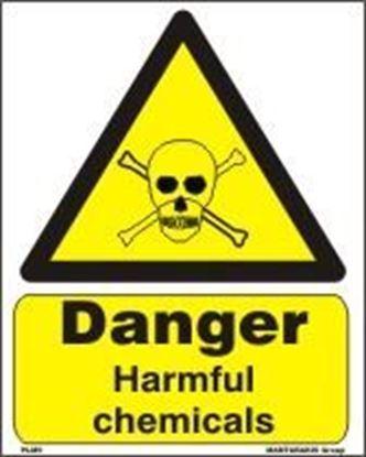 Εικόνα της DANGER HARMFUL CHEMICALS   20x25