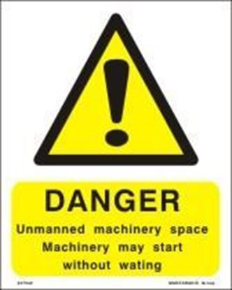 Picture of DANGER UNMANNED MACHINERY 15X20
