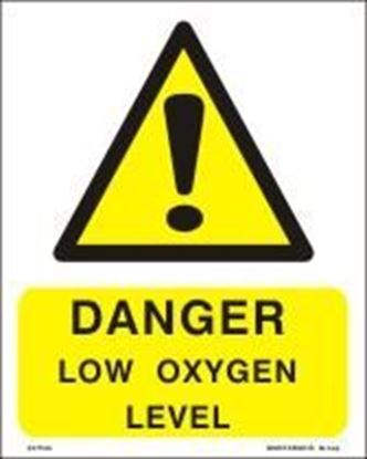 Picture of DANGER LOW OXYGEN LEVEL