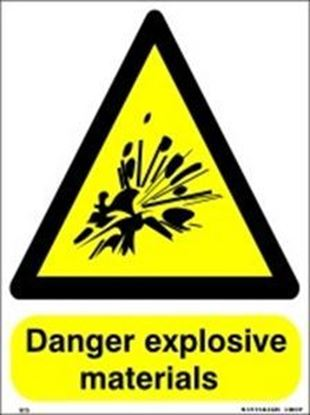 Picture of DANGER EXPLOSIVES MATERIALS
