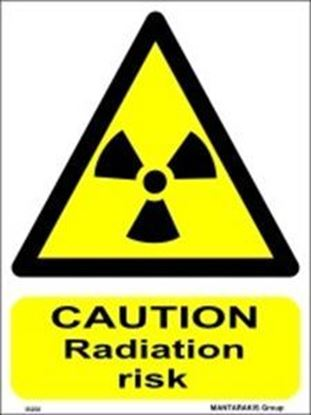 Picture of CAUTION RADIATION RISK 15X20