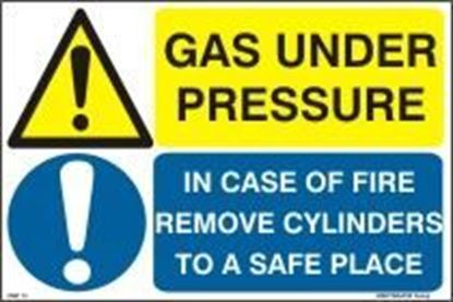 Picture of GAS UNDER PRESSURE-IN CASE OF FIRE REMOVE CYLINDER