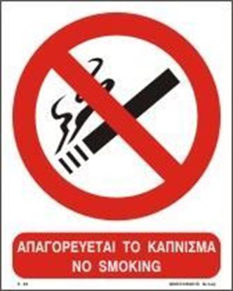 Picture of NO SMOKING SIGN     25Χ20