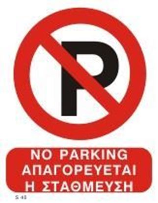 Picture of NO PARKING SIGN   20x25
