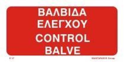 Εικόνα της CONTROL VALVE SIGN   10x20