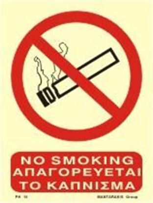 Εικόνα της NO SMOKING SIGN 20X15 PVC