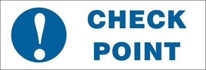 Picture of CHECK POINT    20x30