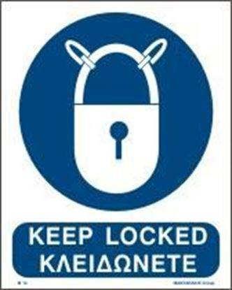 Picture of KEEP LOCKED SIGN 25X20