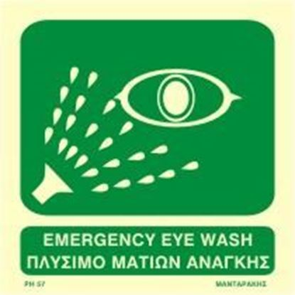 Picture of EMERGENCY EYE WASH SIGN    15x15