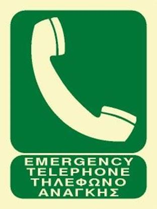 Εικόνα της EMERGENCY TELEPHONE SIGN 20X15