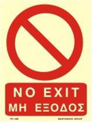 Picture of NO EXIT SIGN 20X15 PVC