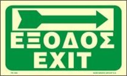 Picture of EXIT - RIGHT ARROW SIGN     15x25