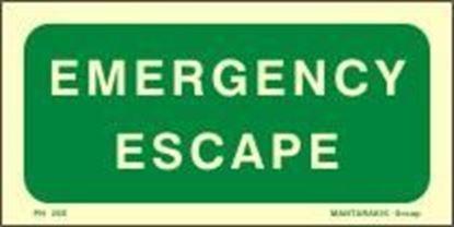 Εικόνα της EMERGENCY ESCAPE SIGN 10X20