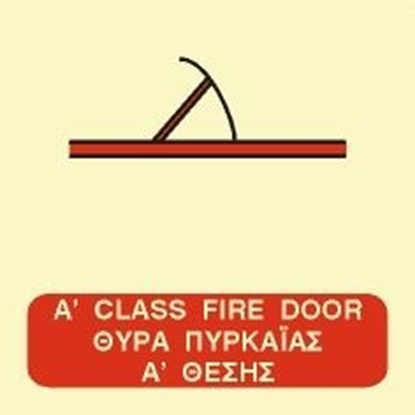 Εικόνα της A CLASS FIRE DOOR SIGN   15x15