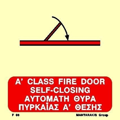 Picture of A CLASS SELF-CLOSING FIRE DOOR SIGN   15x15