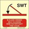 Снимка на A-CLASS HING.SELF-CLOS.SEMI-WATER.FIR.DOOR 15X15