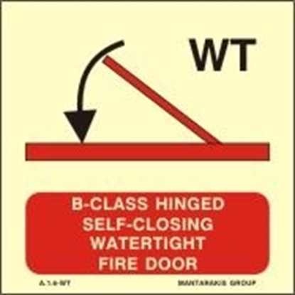 Снимка на A-CLASS HINGED SELF-CLOS.WATERT.FIRE DOOR 15X15