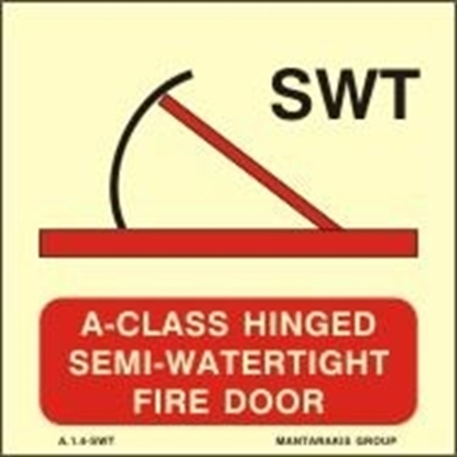 Снимка на A-CLASS HINGED SEMI-WATERT.FIRE DOOR 15X15