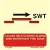 Picture of A-CLASS SELF-CLOS.SLIDING SEMI-WATERT.FIRE DOOR