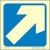Снимка на ARROW DIAGONAL SIGN   15x15  BLUE (ΑΥΤΟΚΟΛΛΗΤΟ)