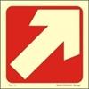 Снимка на ARROW DIAGONAL SIGN  7,5x7,5  RED