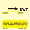 Εικόνα από B-CLASS SELF-CLOS.SLIDING SEMI-WATERT.FIRE DOOR