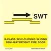 Снимка на B-CLASS SELF-CLOS.SLIDING SEMI-WATERT.FIRE DOOR
