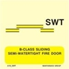 Picture of B-CLASS SLIDING SEMI-WATERT.FIRE DOOR 15X15