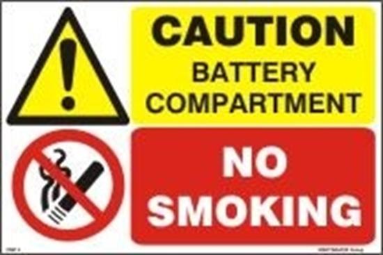 Εικόνα από CAUTION BATTERY COMPARTMENT-NO SMOKING 20x30