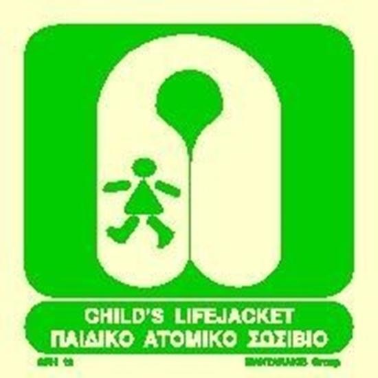 Снимка на CHILD'S LIFEJACKET SIGN 15X15