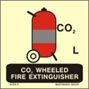 Picture of CO2 WHEELED FIRE EXTINGUISHER 15X15