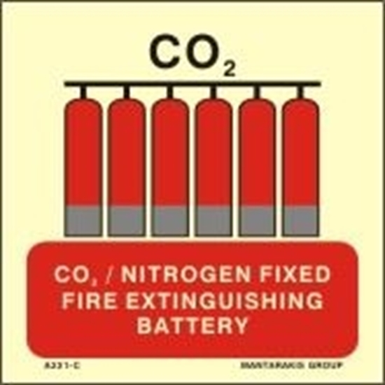 Picture of CO2/NITROGEN FIXED FIRE EXTINGUIS.BATTERY 15X15