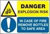 Снимка на DANG. EXPLOS.RISK-IN CASE OF FIRE REM.BOTTL. 20x30