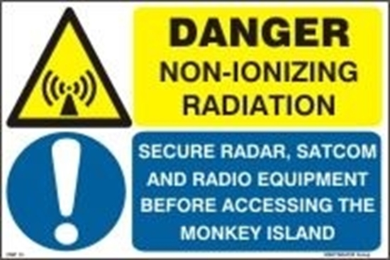 Picture of DANGER NON-IONIZING RADIATION 20X30