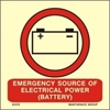 Picture of EMERG. SOURCE OF ELECTRICAL POWER (BATTERY) 15x15