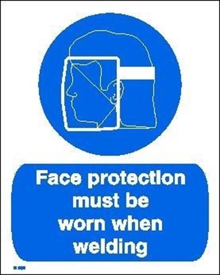 Εικόνα από FACE PROTECTION MUST BE WORN WHEN WELDING  20x25