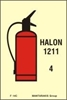 Εικόνα από FIRE EXTINGUISHER HALON 1211 SIGN     15X10