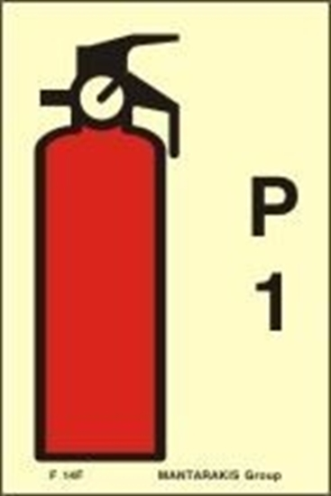 Εικόνα από FIRE EXTINGUISHER P1 SIGN 15X10
