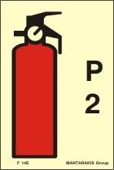 Picture of FIRE EXTINGUISHER P2 SIGN 15X10
