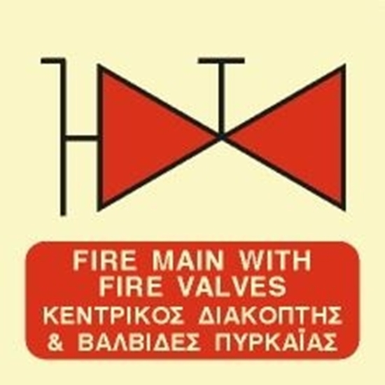 Picture of FIRE MAIN WITH FIRE VALVES SIGN (ISO)    15x15