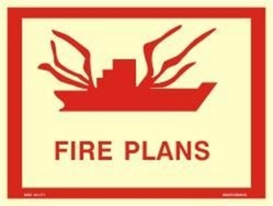 Picture of FIRE PLANS SIGN        30x40
