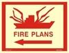 Picture of FIRE PLANS-LEFT ARROW SIGN     30x40
